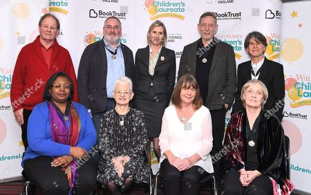 Stock Photo of Michael Morpurgo, Chris Riddell, Lauren Child, Michael Rosen, Anthony Browne, Malorie Blackman, Jacqueline Wilson, Julia Donaldson and Anne Fine