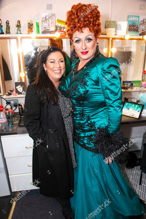 Jessie Wallace and Shane Richie (Hugo/Loco Chanelle) backstage