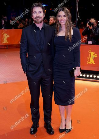 Christian Bale (L) and Sibi Blazic (R) arrive for the premiere of 'Vice' during the 69th annual Berlin Film Festival, in Berlin, Germany, 11 February 2019. The movie is presented in the Official Competition at the Berlinale that runs from 07 to 17 February.