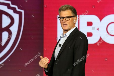 Chief Creative Officer of Turner Entertainment Kevin Reilly speaks during the TBS/TNT executive session at the Television Critics Association Winter Press Tour at The Langham Huntington, in Pasadena, Calif