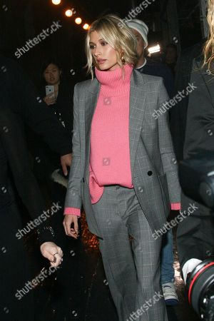 Stock Picture of Hailey Baldwin attends the NYFW Fall/Winter 2019 Zadig and Voltaire fashion show at The Tunnel, in New York