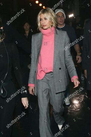 Hailey Baldwin attends the NYFW Fall/Winter 2019 Zadig and Voltaire fashion show at The Tunnel, in New York