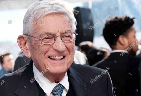 Stock Photo of Billionaire philanthropist Eli Broad, arrives for a groundbreaking ceremony for The Grand, a long-delayed massive development in downtown Los Angeles on . Broad told attendees Monday that the project stems from a vision of Grand Avenue becoming the arts, cultural and civic district for the region