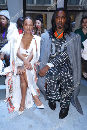 Karrueche Tranand EJ King in the front row