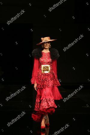 Model Rocio Garcia on the catwalk
