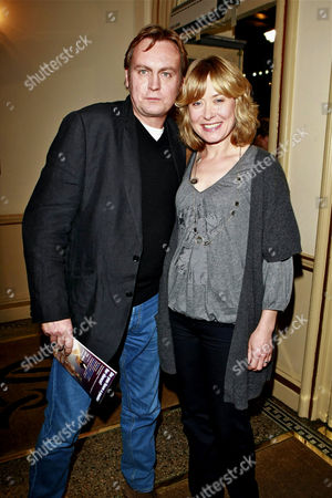 Phillip Glenister and wife
