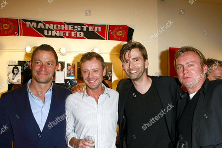 Dominic West, John Simm, David Tennant, and Phillip Glenister