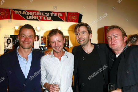 Dominic West, John Simm, David Tenant, and Phillip Glenister