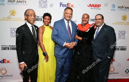 Reverend Al Sharpton, Tamron Hall, Reverend Jesse Jackson, Susan L Taylor and Michael Eric Dyson