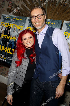 Stock Picture of Julia Knight, Stephen Merchant (Director)