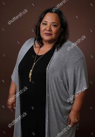 "Dream Hampton, executive producer of the upcoming BET docuseries ""Finding Justice,"" poses for a portrait during the 2019 Winter Television Critics Association Press Tour, in Pasadena, Calif"
