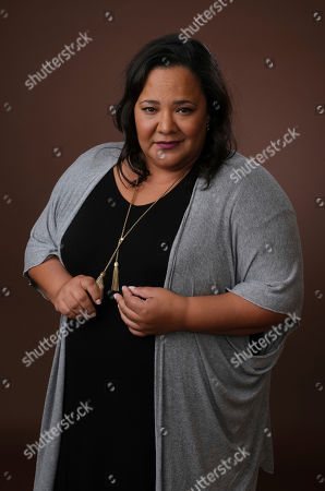 "Dream Hampton, executive producer of the upcoming BET docu-series ""Finding Justice,"" poses for a portrait during the 2019 Winter Television Critics Association Press Tour, in Pasadena, Calif"