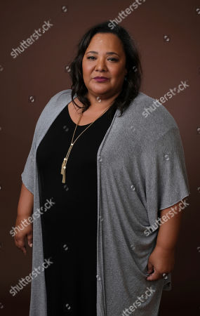 "Stock Image of Dream Hampton, executive producer of the upcoming BET docu-series ""Finding Justice,"" poses for a portrait during the 2019 Winter Television Critics Association Press Tour, in Pasadena, Calif"
