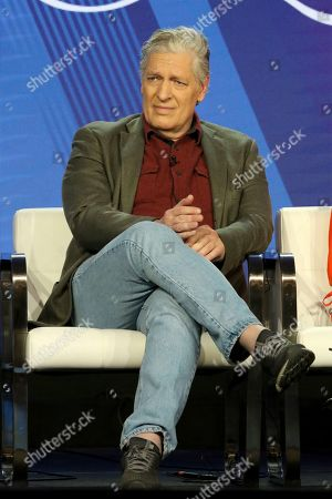 """Clancy Brown participates in the """"SpongeBob SquarePants"""" panel during the Nickelodeon presentation at the Television Critics Association Winter Press Tour at The Langham Huntington, in Pasadena, Calif"""