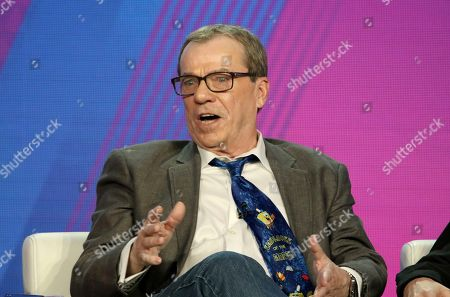 "Stock Image of Rodger Bumpass participates in the ""SpongeBob SquarePants"" panel during the Nickelodeon presentation at the Television Critics Association Winter Press Tour at The Langham Huntington, in Pasadena, Calif"