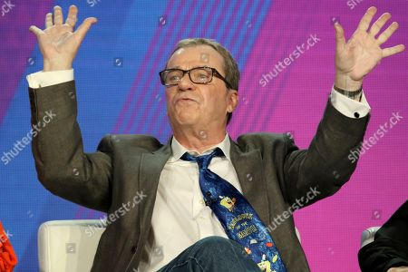"Rodger Bumpass participates in the ""SpongeBob SquarePants"" panel during the Nickelodeon presentation at the Television Critics Association Winter Press Tour at The Langham Huntington, in Pasadena, Calif"