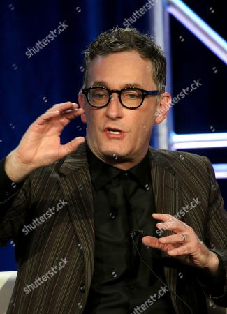 """Stock Image of Tom Kenny participates in the """"SpongeBob SquarePants"""" panel during the Nickelodeon presentation at the Television Critics Association Winter Press Tour at The Langham Huntington, in Pasadena, Calif"""