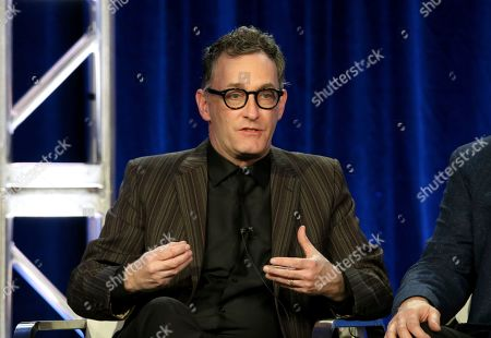 """Stock Picture of Tom Kenny participates in the """"SpongeBob SquarePants"""" panel during the Nickelodeon presentation at the Television Critics Association Winter Press Tour at The Langham Huntington, in Pasadena, Calif"""