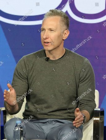"""Michael Blieden participates in the """"South Side"""" panel during the Comedy Central presentation at the Television Critics Association Winter Press Tour at The Langham Huntington, in Pasadena, Calif"""