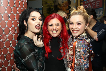 Stock Image of Saraya Bevis, Julia Knight, Florence Pugh