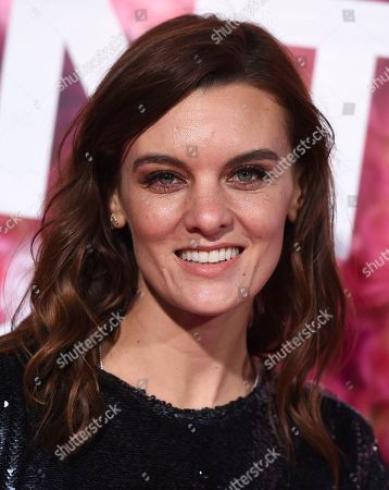 """Frankie Shaw arrives at the Los Angeles premiere of """"Isn't It Romantic"""" at The Theatre at Ace Hotel on"""