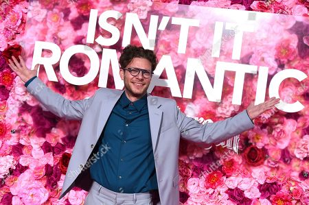 """Todd Strauss-Schulson arrives at the Los Angeles premiere of """"Isn't It Romantic"""" at The Theatre at Ace Hotel on"""