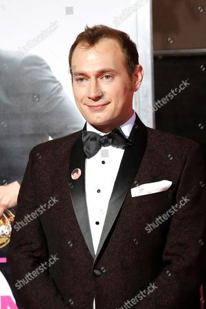 Brandon Scott Jones poses for the photographers at the world premiere of 'Isn't It Romantic' at The Theatre at Ace Hotel in Los Angeles, California, USA, 11 February 2019. The movie opens in US cinemas on 13 February 2019.