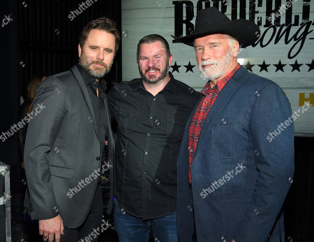 Charles Esten, Brian Hynes and Arnold Schwarzenegger