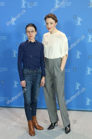 Angela Schanelec (L) and German actress Maren Eggert (R) pose during the photocall of 'I Was At Home, But' (Ich war zuhause, aber) during the 69th annual Berlin Film Festival, in Berlin, Germany, 12 February 2019. The movie is presented in the Official Competition at the Berlinale that runs from 07 to 17 February.