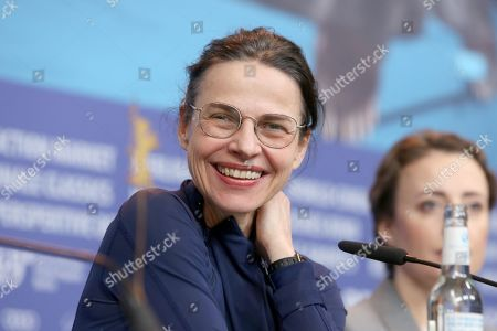 Angela Schanelec attends the press conference of 'I Was At Home, But' (Ich war zuhause, aber) during the 69th annual Berlin Film Festival, in Berlin, Germany, 12 February 2019. The movie is presented in the Official Competition at the Berlinale that runs from 07 to 17 February.