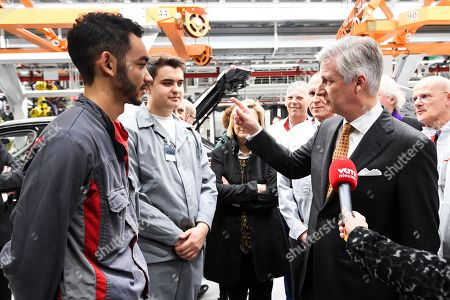 King Philippe visits Audi Brussels