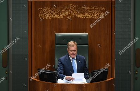 Speaker Tony Smith during Question Time in the House of Representatives at Parliament House in Canberra, Australian Capital Territory, Australia, 12 February 2019. Australian MPs have passed on the day the medical evacuation (medevac) bill, a landmark bill facilitating sick refugees held offshore in detention centers on Nauru and Papua New Guinea to be treated in the country. It is the first time in decades that a sitting government has lost a vote on its own legislation in the lower house, media reported.