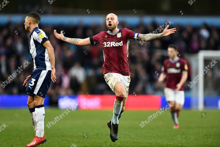 Alan Hutton (21) of Aston Villa reacts after a missed pass