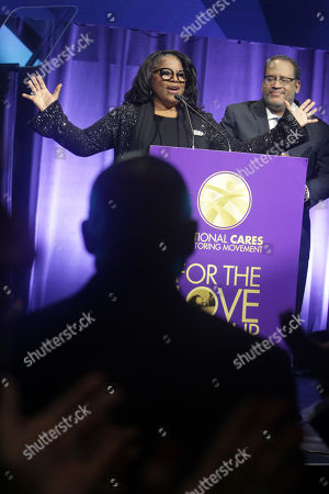 LaTanya Richardson (Honoree) and Dr. Michael Eric Dyson (Host)