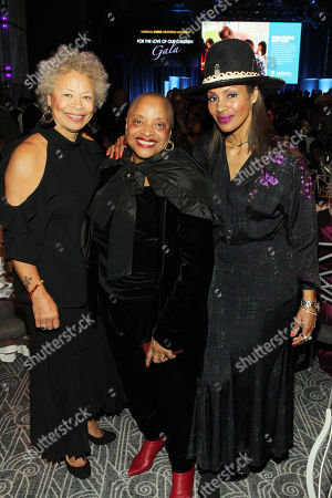 Stock Image of (L-R) Melvina Lathan, Dr. Deb Willis and Chenoa Maxwell