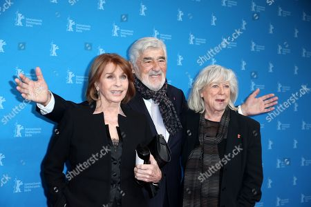 Senta Berger (L) German actor Mario Adorf (C) and German director Margarethe Von Trotta (R) pose for photographers at the premiere of 'It Could Have Been Worse - Mario Adorf ' during the 69th annual Berlin Film Festival, in Berlin, Germany, 12 February 2019. The movie is presented in the Berlinale Special at the Berlinale that runs from 07 to 17 February.