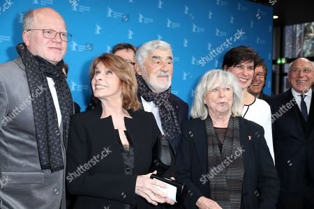 Stock Image of German director Dominik Wessely Austrian actress Senta Berger German actor Mario Adorf German director Margarethe Von Trotta pose for photographers at the premiere of 'It Could Have Been Worse - Mario Adorf ' during the 69th annual Berlin Film Festival, in Berlin, Germany, 12 February 2019. The movie is presented in the Berlinale Special at the Berlinale that runs from 07 to 17 February.