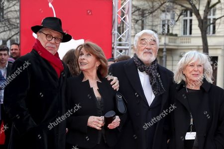 Festival director Dieter Kosslick, Austrian actress Senta Berger, German actor Mario Adorf and German director Margarethe Von Trotta pose for photographers at the premiere of 'It Could Have Been Worse - Mario Adorf ' during the 69th annual Berlin Film Festival, in Berlin, Germany, 12 February 2019. The movie is presented in the Berlinale Special at the Berlinale that runs from 07 to 17 February.