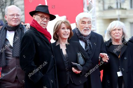 Stock Picture of German director Dominik Wessely, Festival director Dieter Kosslick, Austrian actress Senta Berger, German actor Mario Adorf and German director Margarethe Von Trotta pose for photographers at the premiere of 'It Could Have Been Worse - Mario Adorf ' during the 69th annual Berlin Film Festival, in Berlin, Germany, 12 February 2019. The movie is presented in the Berlinale Special at the Berlinale that runs from 07 to 17 February.