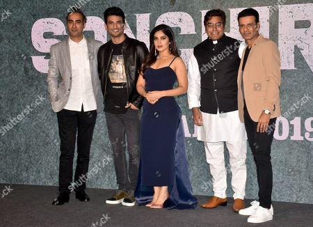 Actor Ranvir Shorey, Sushant Singh Rajput, Bhumi Pednekar, Ashutosh Rana and Manoj Bajpayee