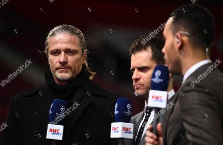 Emmanuel Petit working for French broadcaster RMC Sport