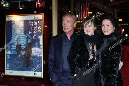 Stock Image of Udo Kier, and Austrian actresses Sophie Rois and Julia Stemberger arrive for the premiere of 'M â?? A City Hunts a Murderer' (M â?? Eine Stadt sucht einen Moerder) during the 69th annual Berlin Film Festival, in Berlin, Germany, 12 February 2019. The movie is presented in the Berlinale Special Section at the Berlinale that runs from 07 to 17 February.