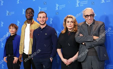 Catherine Deneuve (2-R), French director Andre Techine (R), actor Stephane Bak (2-L) and Swiss actor Kacey Mottet Klein (C) pose during the photocall of 'Farewell to the night' (L'Adieu a la nuit) during the 69th annual Berlin Film Festival, in Berlin, Germany, 12 February 2019. The movie is presented in the Official Competition at the Berlinale that runs from 07 to 17 February.