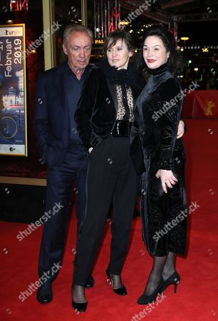 Stock Image of Udo Kier, and Austrian actresses Sophie Rois and Julia Stemberger arrive for the premiere of 'M - A City Hunts a Murderer' (M - Eine Stadt sucht einen Moerder) during the 69th annual Berlin Film Festival, in Berlin, Germany, 12 February 2019. The movie is presented in the Berlinale Special Section at the Berlinale that runs from 07 to 17 February.