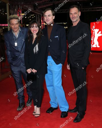 German actor/musician Bela B., Austrain actress Verena Altenberger, German actor Lars Eidinger and Austrian actor Christian Dolezal arrive for the premiere of 'M - A City Hunts a Murderer' (M - Eine Stadt sucht einen Moerder) during the 69th annual Berlin Film Festival, in Berlin, Germany, 12 February 2019. The movie is presented in the Berlinale Special Section at the Berlinale that runs from 07 to 17 February.