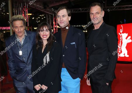 Stock Photo of German actor/musician Bela B., Austrain actress Verena Altenberger, German actor Lars Eidinger and Austrian actor Christian Dolezal arrive for the premiere of 'M - A City Hunts a Murderer' (M - Eine Stadt sucht einen Moerder) during the 69th annual Berlin Film Festival, in Berlin, Germany, 12 February 2019. The movie is presented in the Berlinale Special Section at the Berlinale that runs from 07 to 17 February.