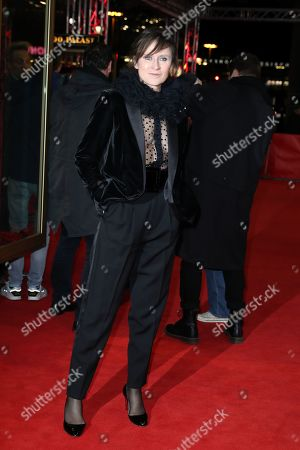 Stock Picture of Sophie Rois arrives for the premiere of 'M - A City Hunts a Murderer' (M - Eine Stadt sucht einen Moerder) during the 69th annual Berlin Film Festival, in Berlin, Germany, 12 February 2019. The movie is presented in the Berlinale Special Section at the Berlinale that runs from 07 to 17 February.