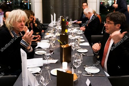 Bob Geldof (L) and Former Catalan regional President Carles Puigdemont attend the Cinema For Peace Dinner at the Reichstag on the sidelines of the 69th annual Berlin Film Festival, in Berlin, Germany, 12 February 2019. Berlinale runs from 07 to 17 February.