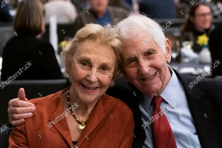 Daniel Ellsberg (R) and wife Patricia Marx Ellsberg attend the Cinema For Peace Dinner at the Reichstag on the sidelines of the 69th annual Berlin Film Festival, in Berlin, Germany, 12 February 2019. Berlinale runs from 07 to 17 February.