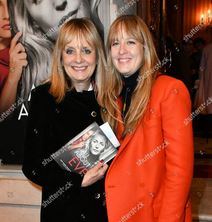 Stock Picture of Twiggy and daughter Carly Lawson